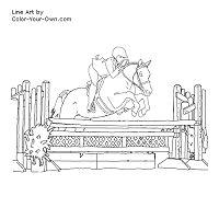Free Printable Show Hunter Pony Coloring Page