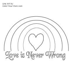 Love is Never Wrong coloring page