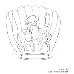 One Mad Turkey Coloring Page for Thanksgiving!