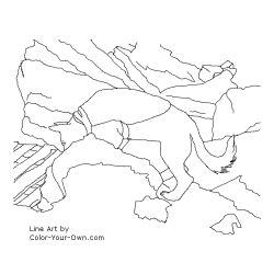 Human Remains Detection (Cadaver) Dog Coloring Page