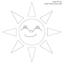 Smiley Sun Coloring Page