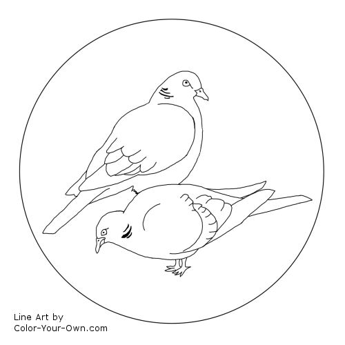 12 days of christmas two turtledoves line art click here for the free printable coloring page