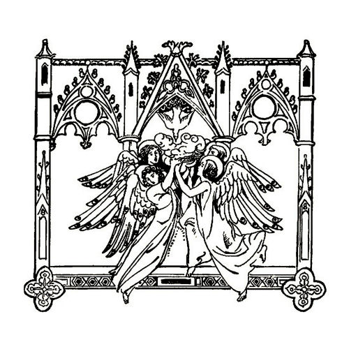 Angels and Doves Line Art