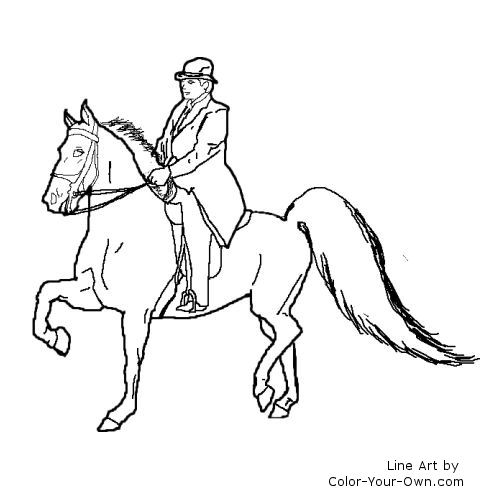 saddled horse coloring pages - photo#12