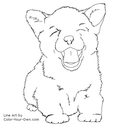 Corgi Puppy Coloring Page Corgi Coloring Pages