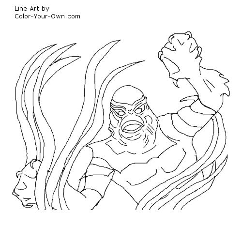 lagoon coloring pages | Classic Monster Movie - Creature of the Black Lagoon ...