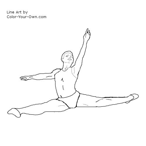 Male Ballet Dancer Line Art