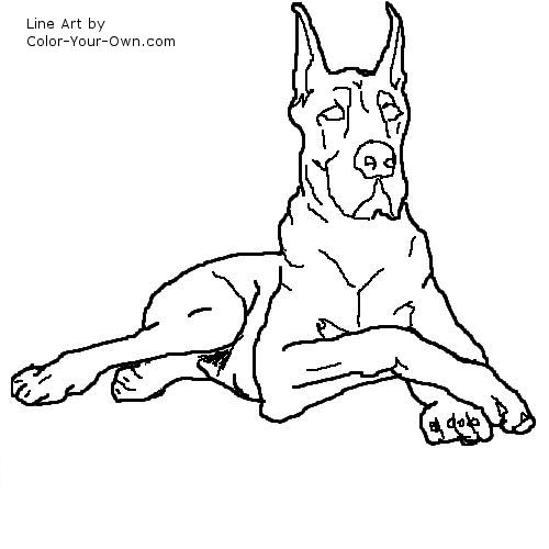 Great dane coloring pages for Great dane coloring pages