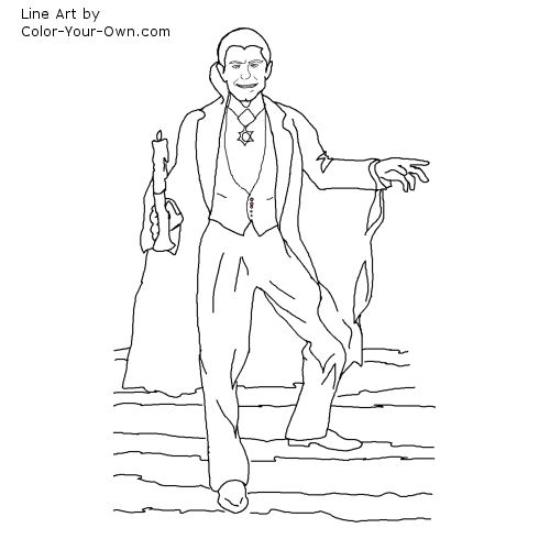 Classic Monster Movie Dracula Coloring Page