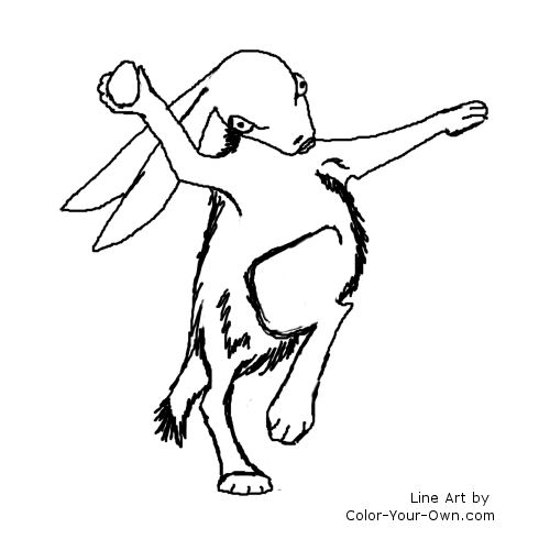Easter Egg Delivery Coloring Page