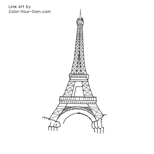 how to draw france tower