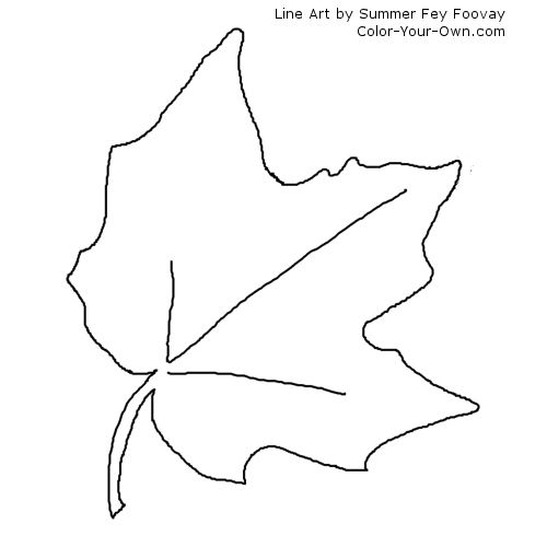 oak leaf coloring pages - photo #27