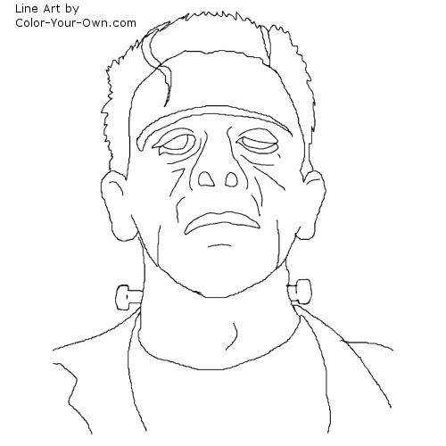 Classic monster movie frankenstein coloring page for Frankenstein coloring pages to print