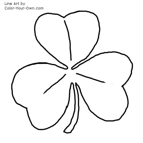 irish shamrock coloring page