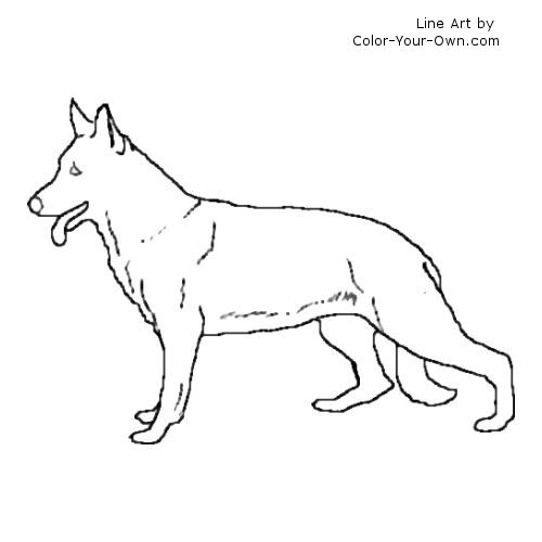 German Shepherds Colouring Pages German Shepherd Coloring Pages