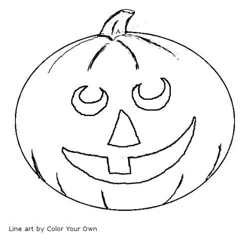 HalloweenSamhain JackOLantern Happy Coloring Page