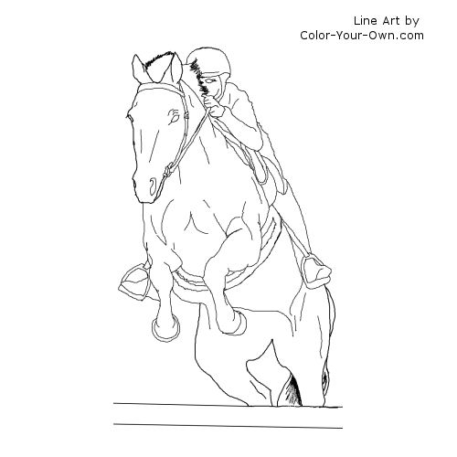 thoroughbred coloring pages - photo#13