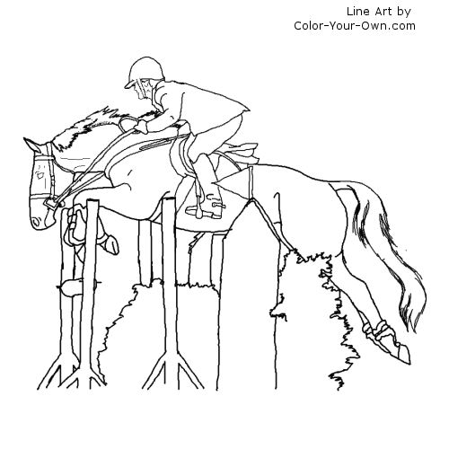 thoroughbred coloring pages - photo#24
