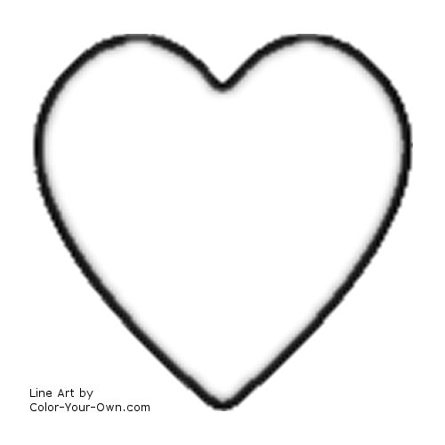 valentines heart coloring pages - photo#28