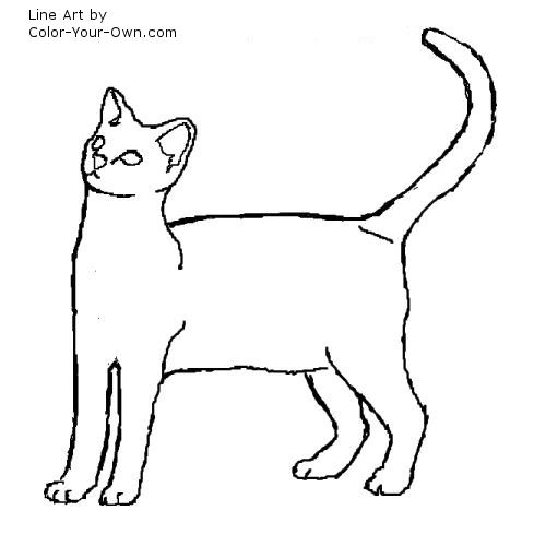 egyptian mau kitten coloring page