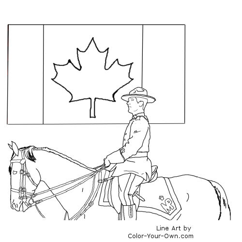 Canada Day Line art