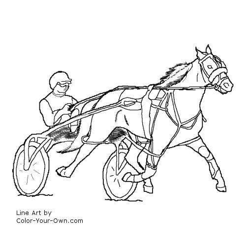Standardbred Colouring Pages