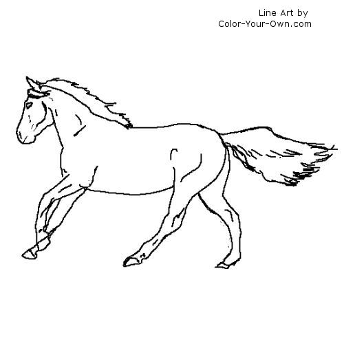 coloring pages horses running - photo #3