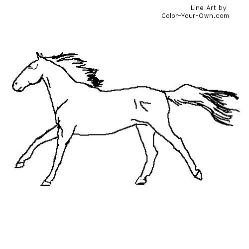 coloring pages horses running - photo #12