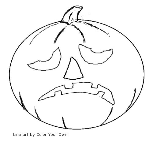 Printable Coloring Pages Jack O Lantern Coloring Pages
