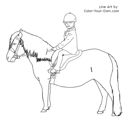 Weatern Saddle Free Coloring Pages