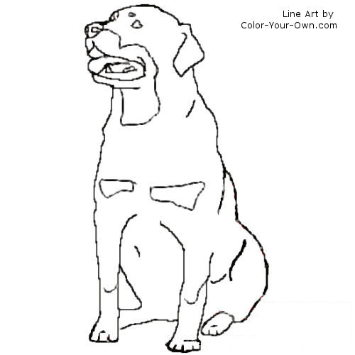 Rottwheeler Dogs Free Coloring