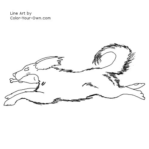 Line Art By Color Your Own : Thanksgiving puppy coloring page