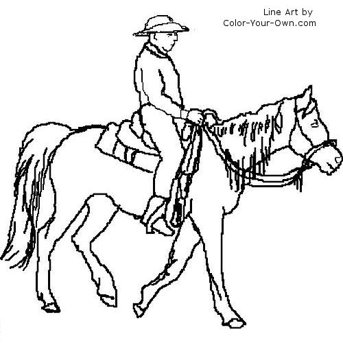 Trail Rider Coloring Page