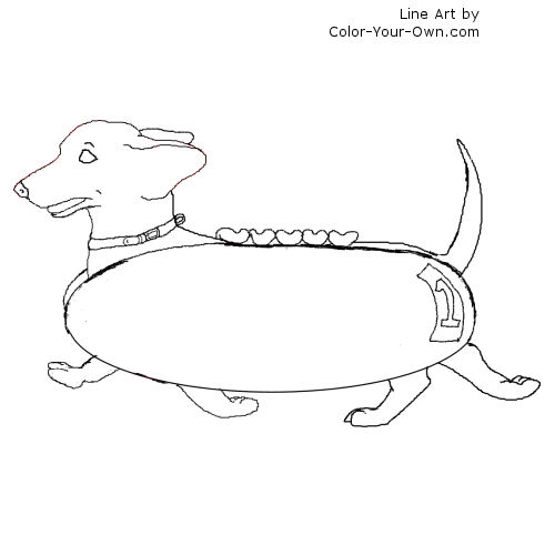 weenie dogs coloring pages - photo#20
