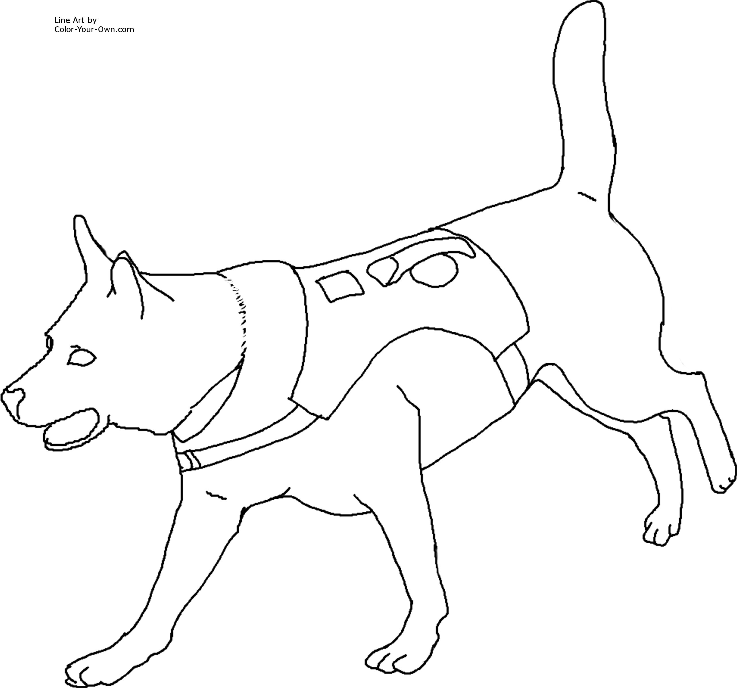 Search and Rescue Dog Coloring