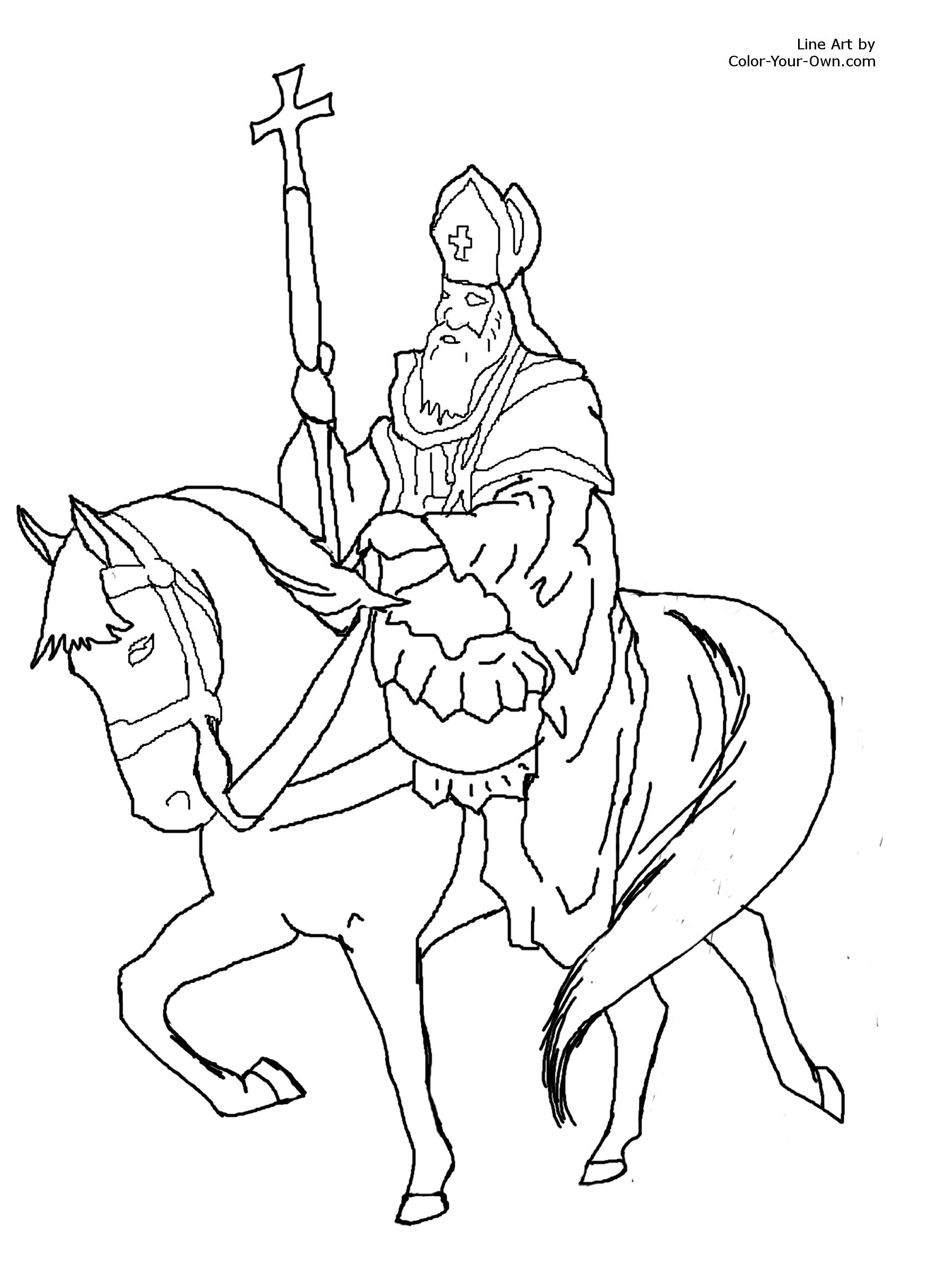 Saint nicholas printable coloring pages for Saints coloring pages to print