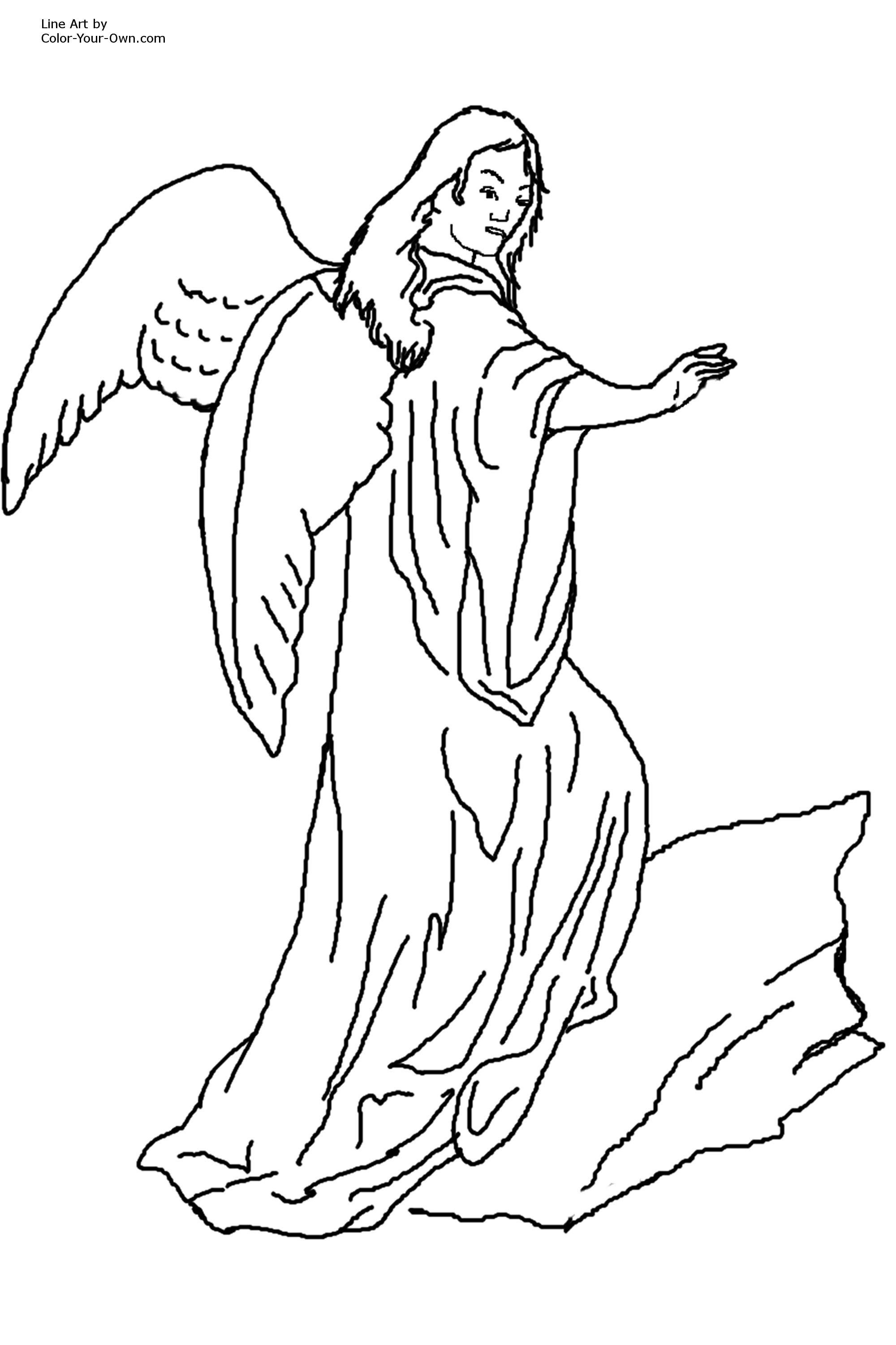 Blessing Angel Coloring Page