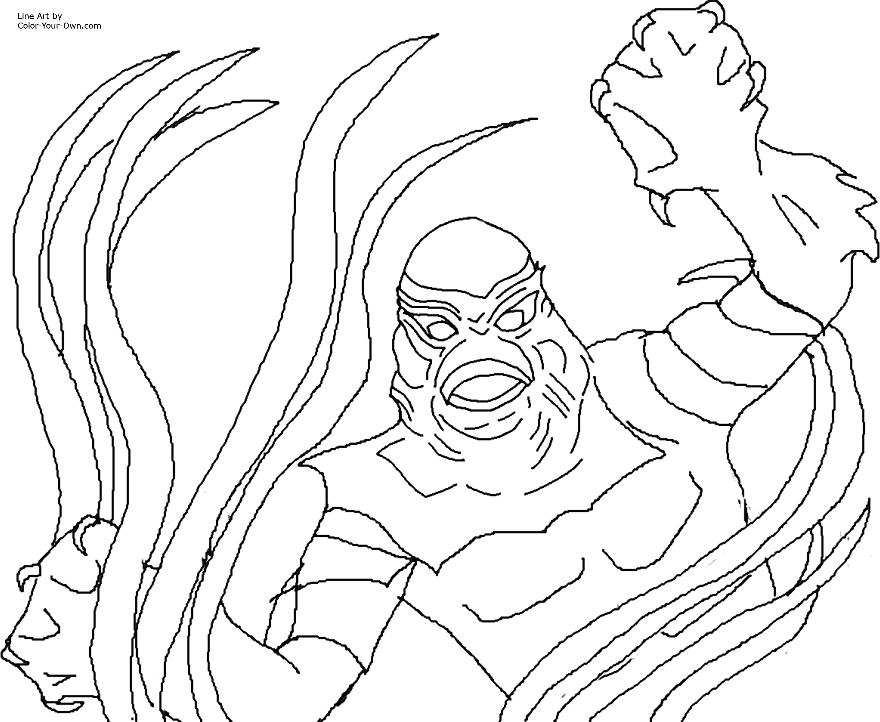 Classic monster movie creature of the black lagoon for Creature from the black lagoon coloring pages