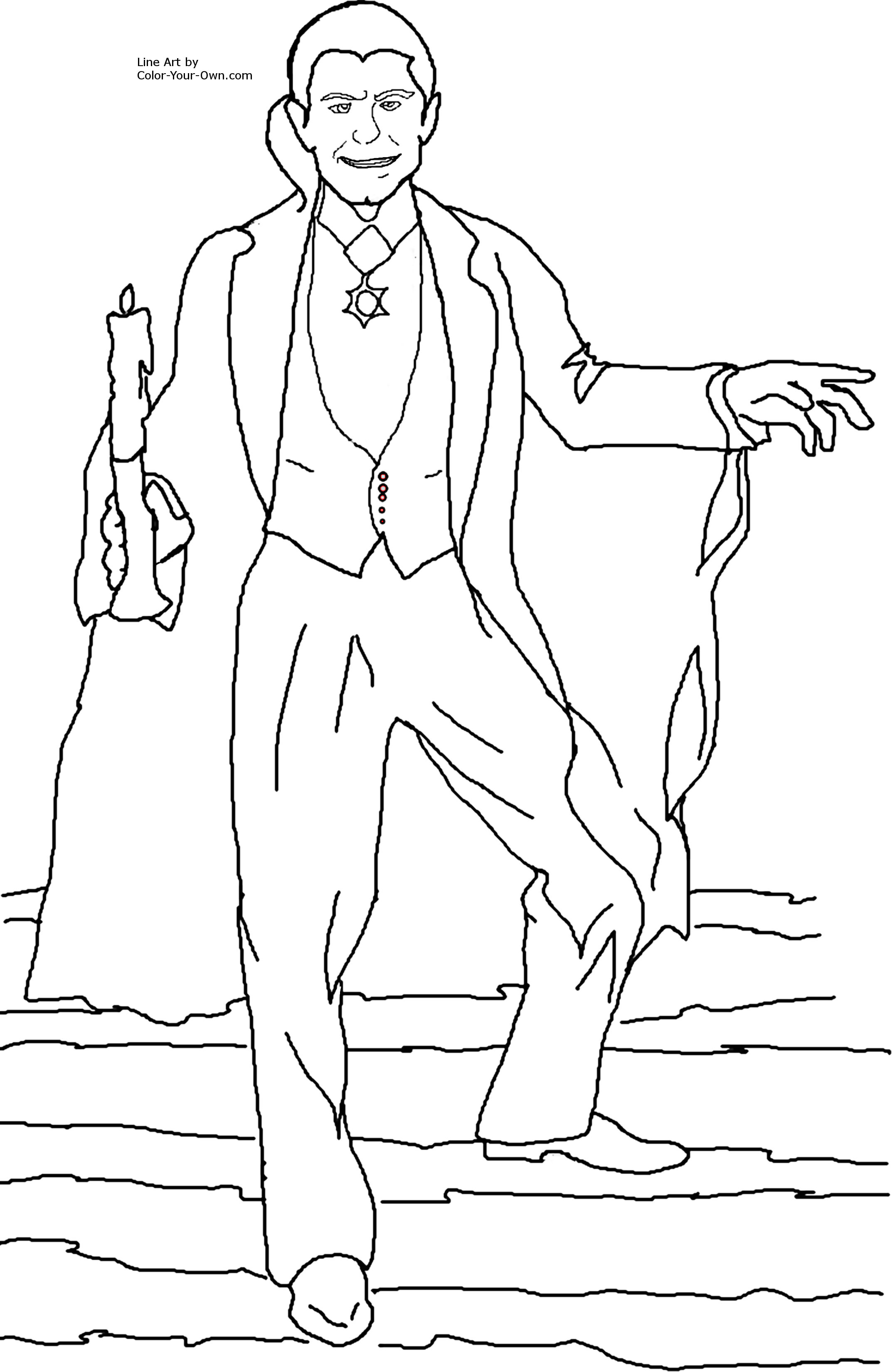 count dracula coloring pages