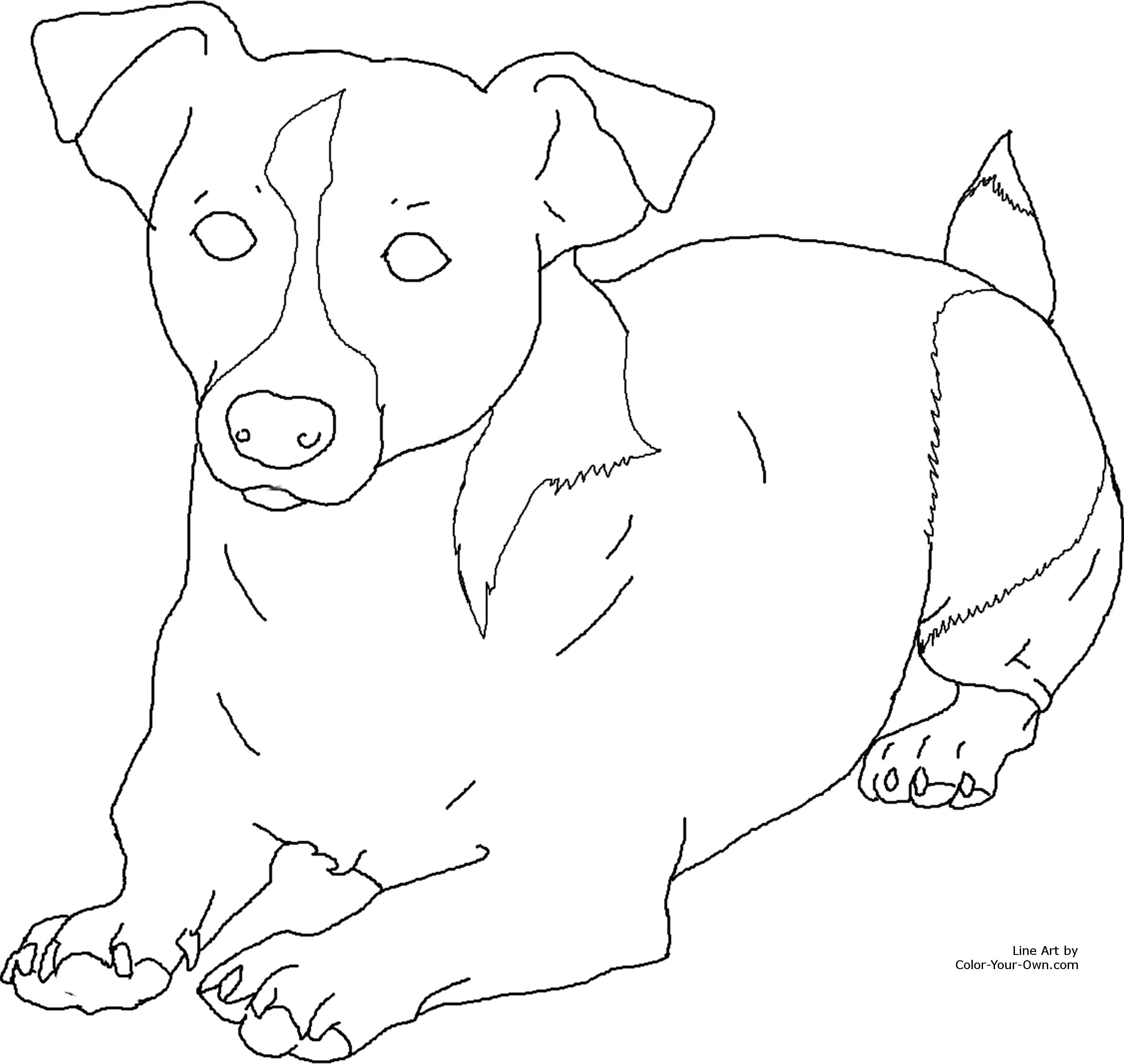 monster dog coloring pages - photo #49