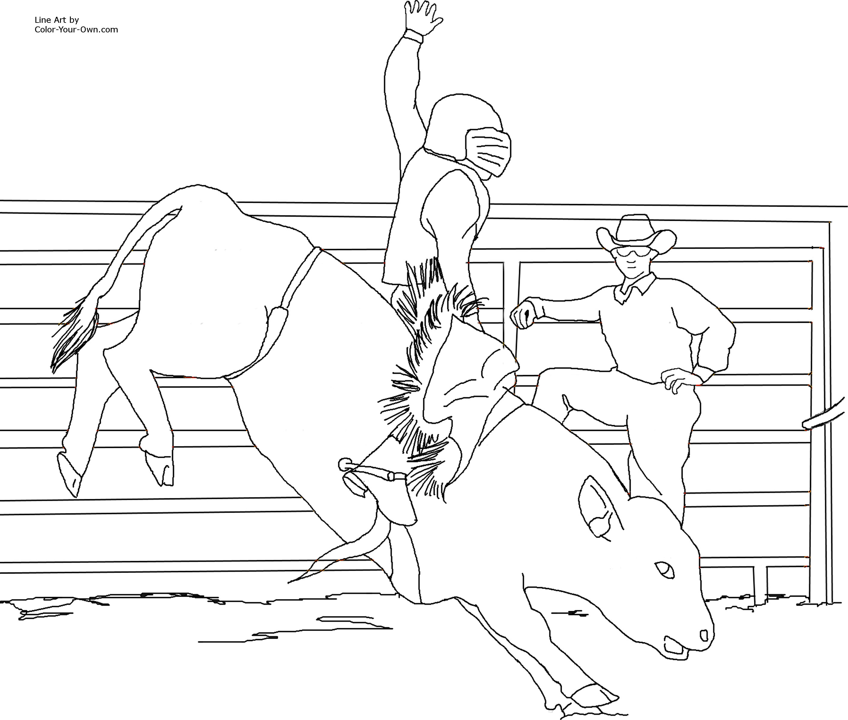 bucking bull coloring pages index of printable coloring pages