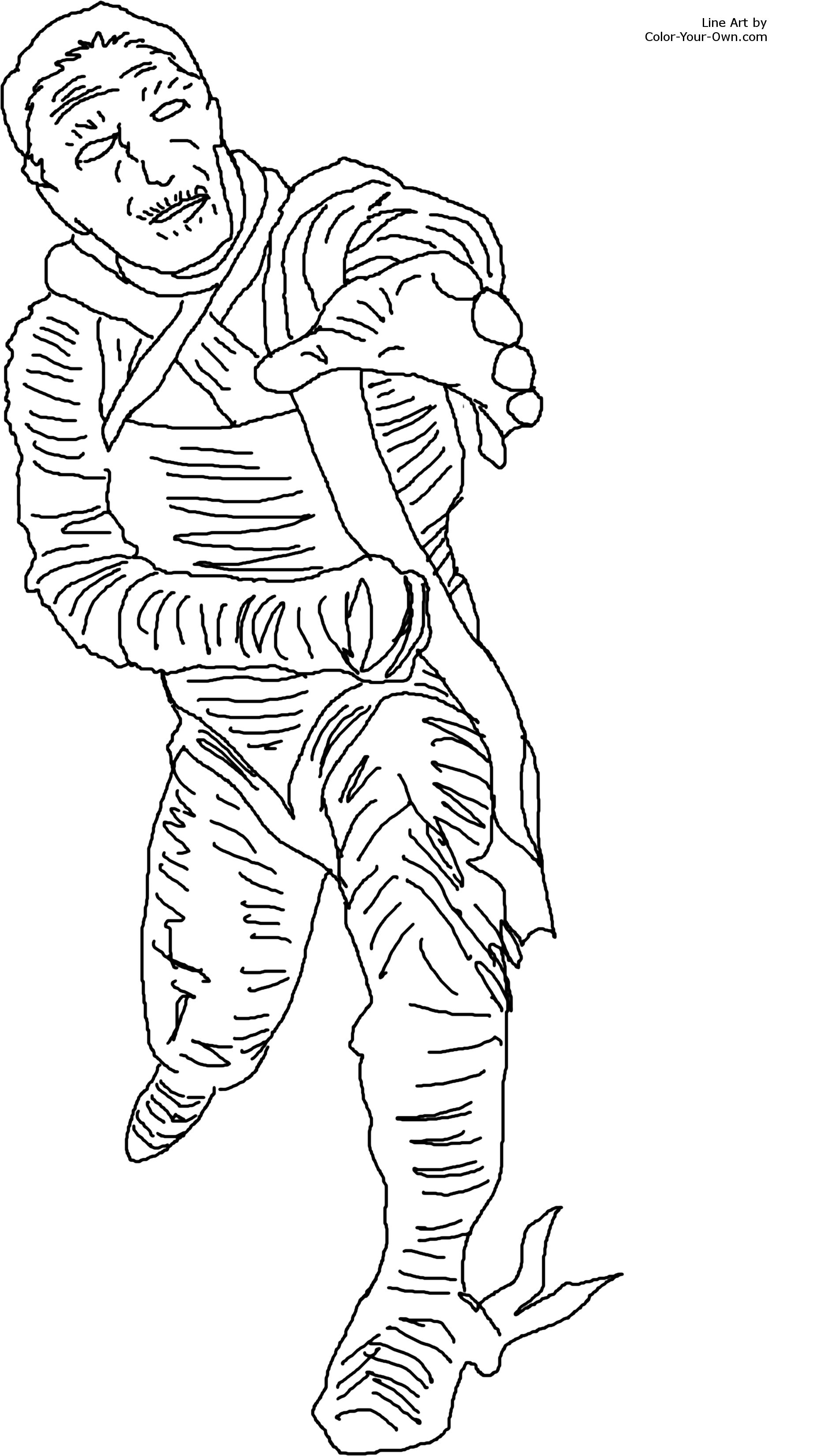 Classic Monster Movie Mummy Coloring Page