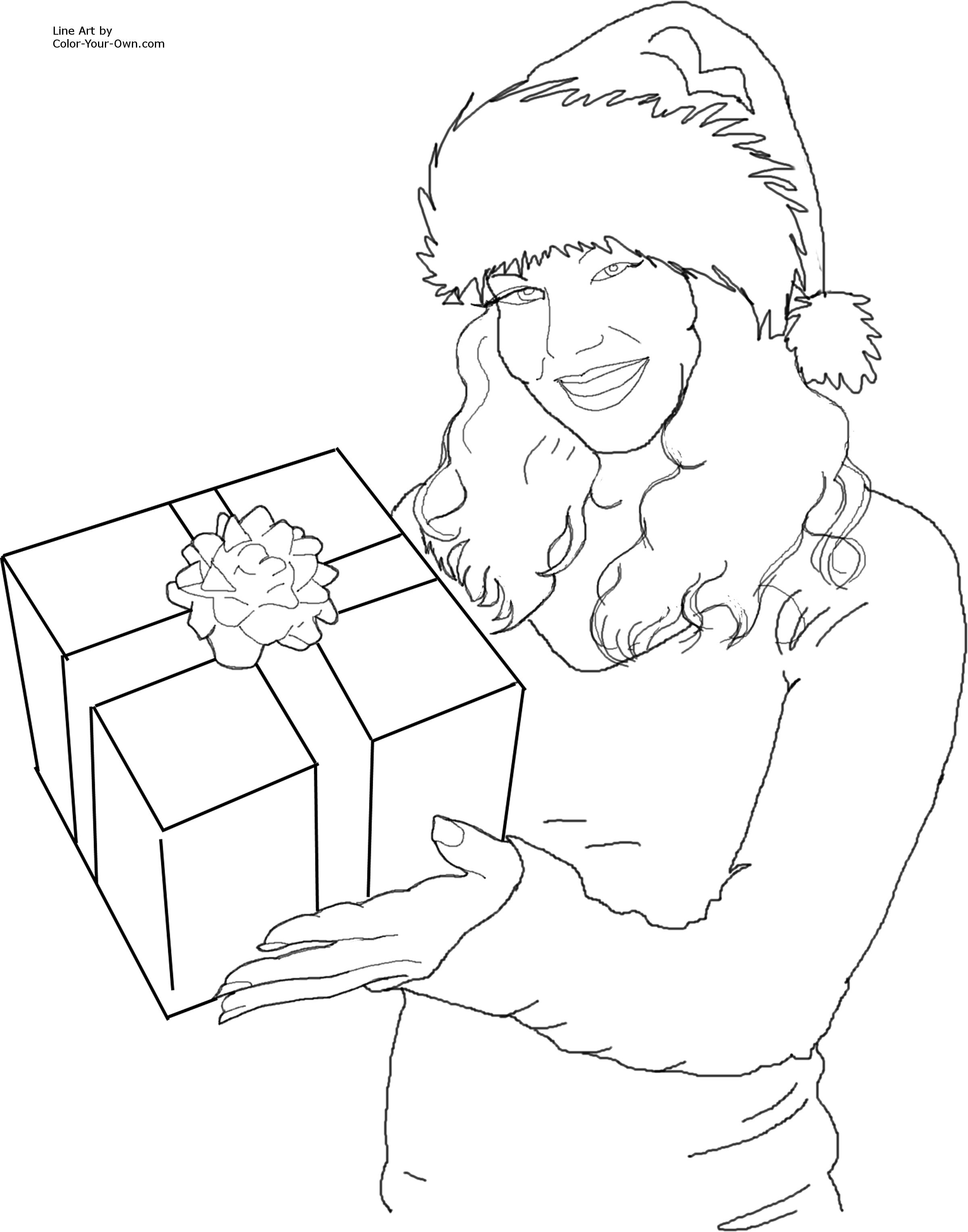 christmas santa s helper with a gift coloring page John Deere Ignition Wiring 1010 click here for the free printable coloring page for 8 5 by 11 inch paper then click print on your browser