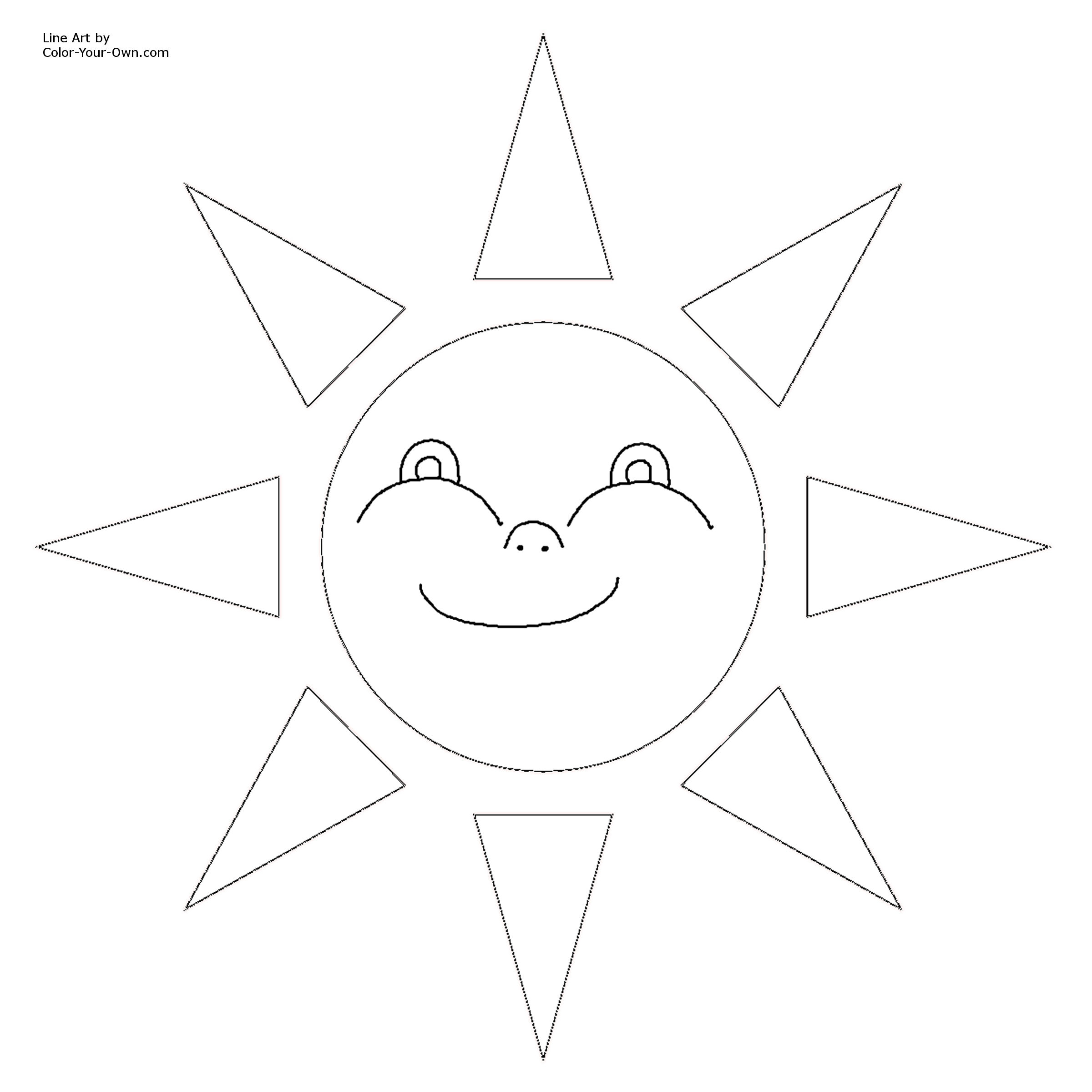 sun coloring pages printable - photo#35