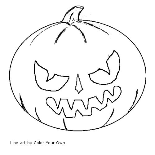 Halloween Samhain Jack O Lantern Coloring Page